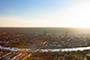 Luebeck City Sunset Aerial View